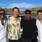 With Paul Tillotson, Henry Butler and James Wormworth at the Jazz in the Canyon Festival